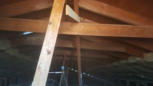 Rafter Built Roof Structure With Disconnected Braces